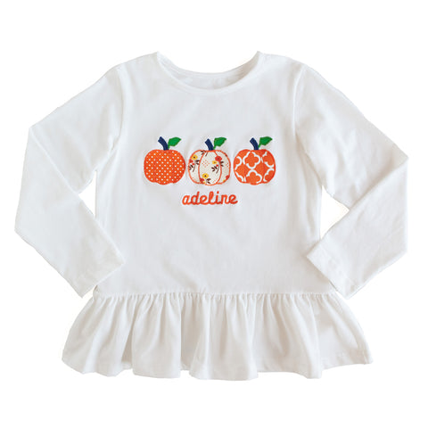 Applique Pumpkin Brooklyn Top