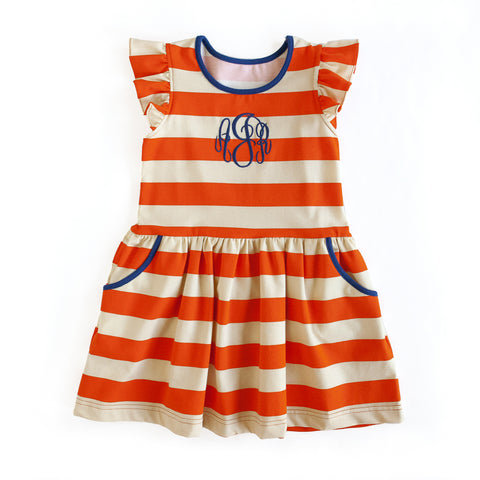 Orange Stripe Janie Dress