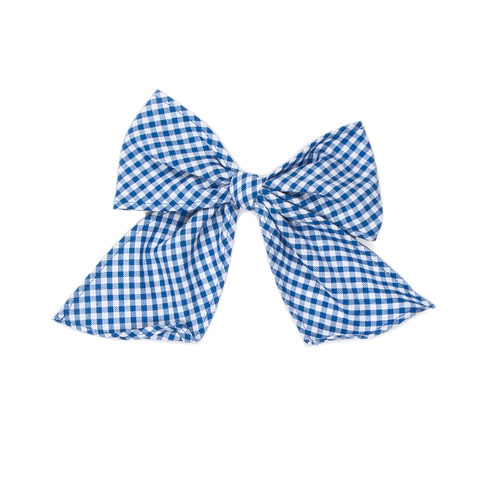 Royal Blue Check Sonni Bow