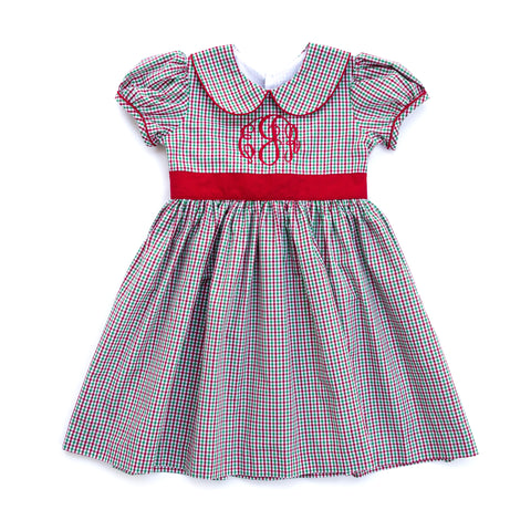 Christmas Micro Check Cayden Dress