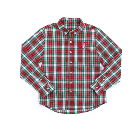 Christmas Plaid James Button Down Shirt