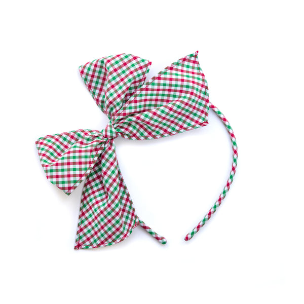 Christmas Micro Check Bea Headband