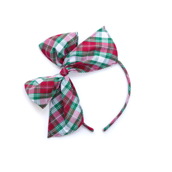 Christmas Plaid Bea Headband