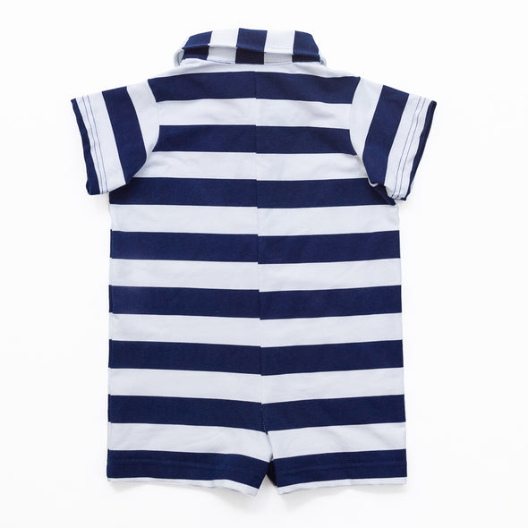 Navy Stripe Connor Romper