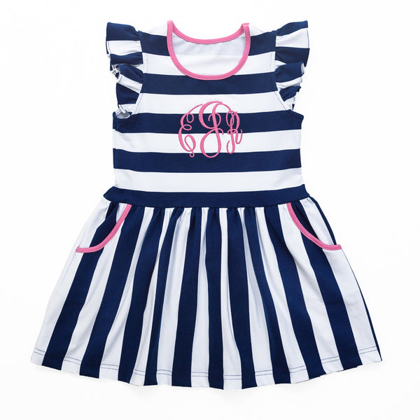 Navy Stripe Janie Dress