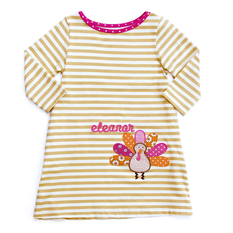 Turkey Applique Mariah Dress