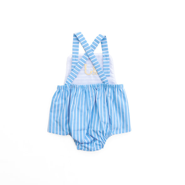 Bright Blue Stripe Vintage Sunsuit