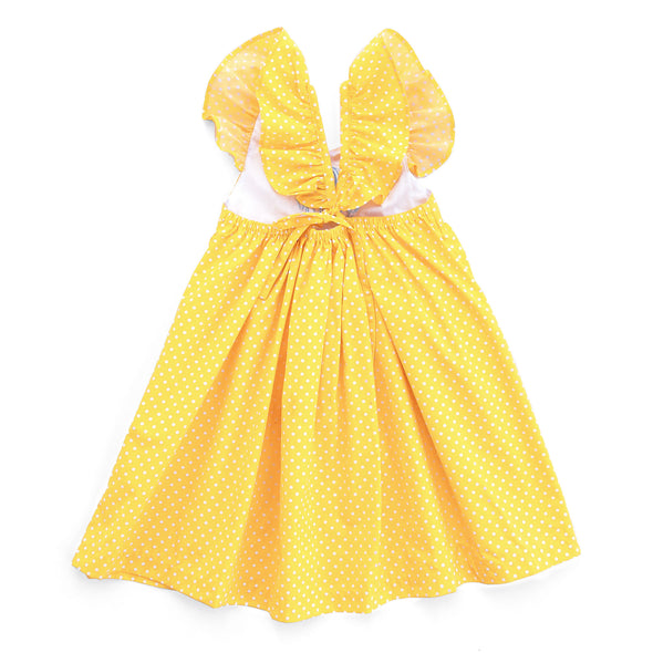 Yellow Dot Serena Dress