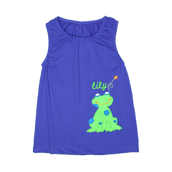 Happy Frog Jenny Applique Tank