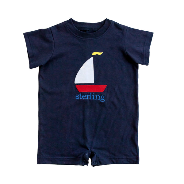 Sailboat Applique Tyler Romper