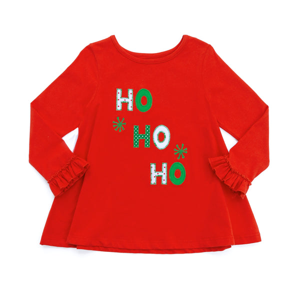 Ho Ho Ho Applique Emmy Top