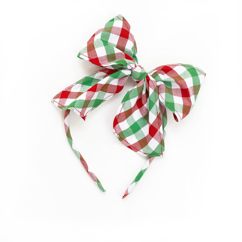 Christmas Check Bea Headband
