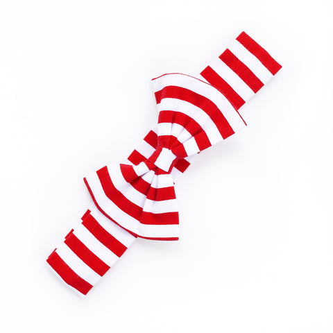 Red Stripe Hope Headband