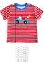 Stripe Applique Tyler Tee Shirt