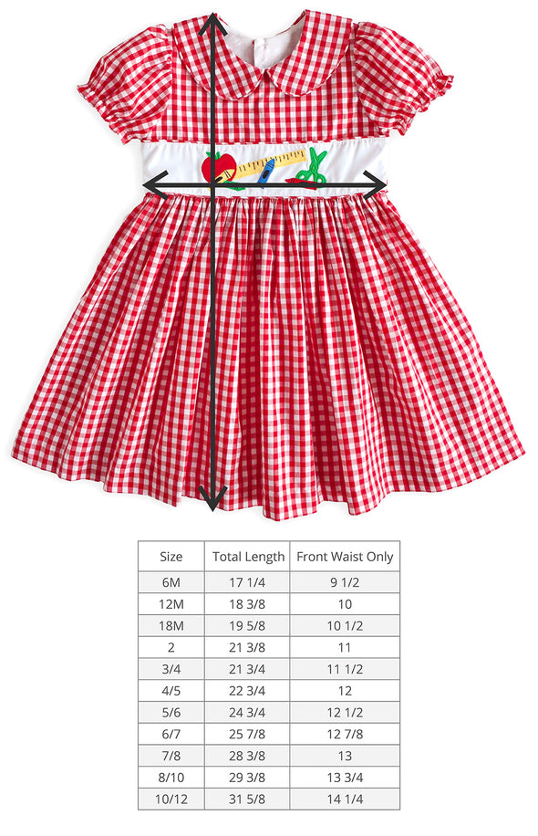 Gingham Applique Cayden Dress
