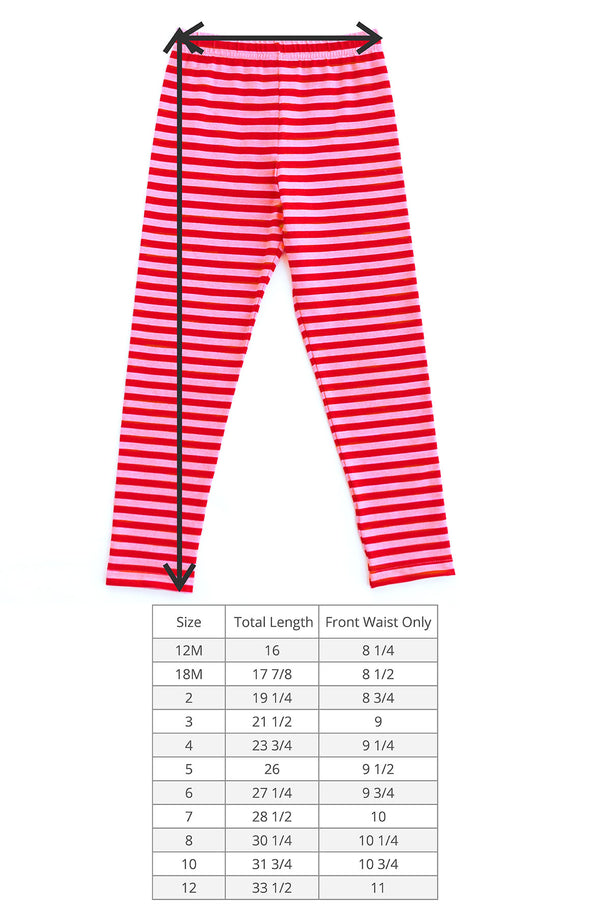 Pink and Red Stripe Kate Legging