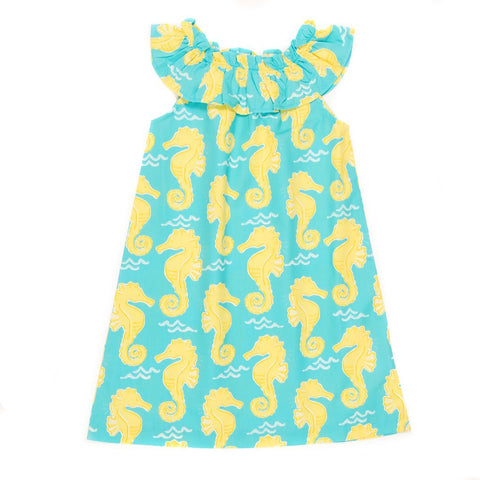 Summer Swim Seahorse Michaela Dress