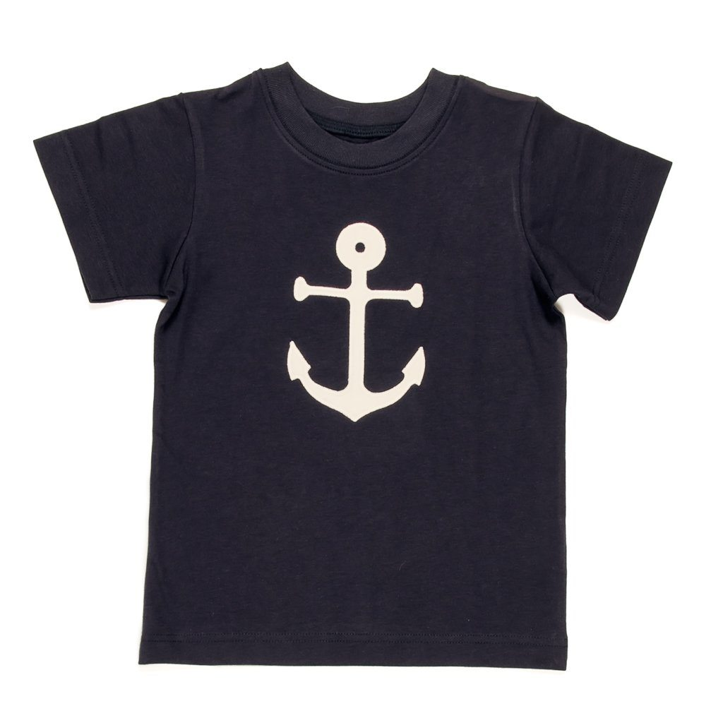 Summer Swim Anchor Applique Tyler Tee
