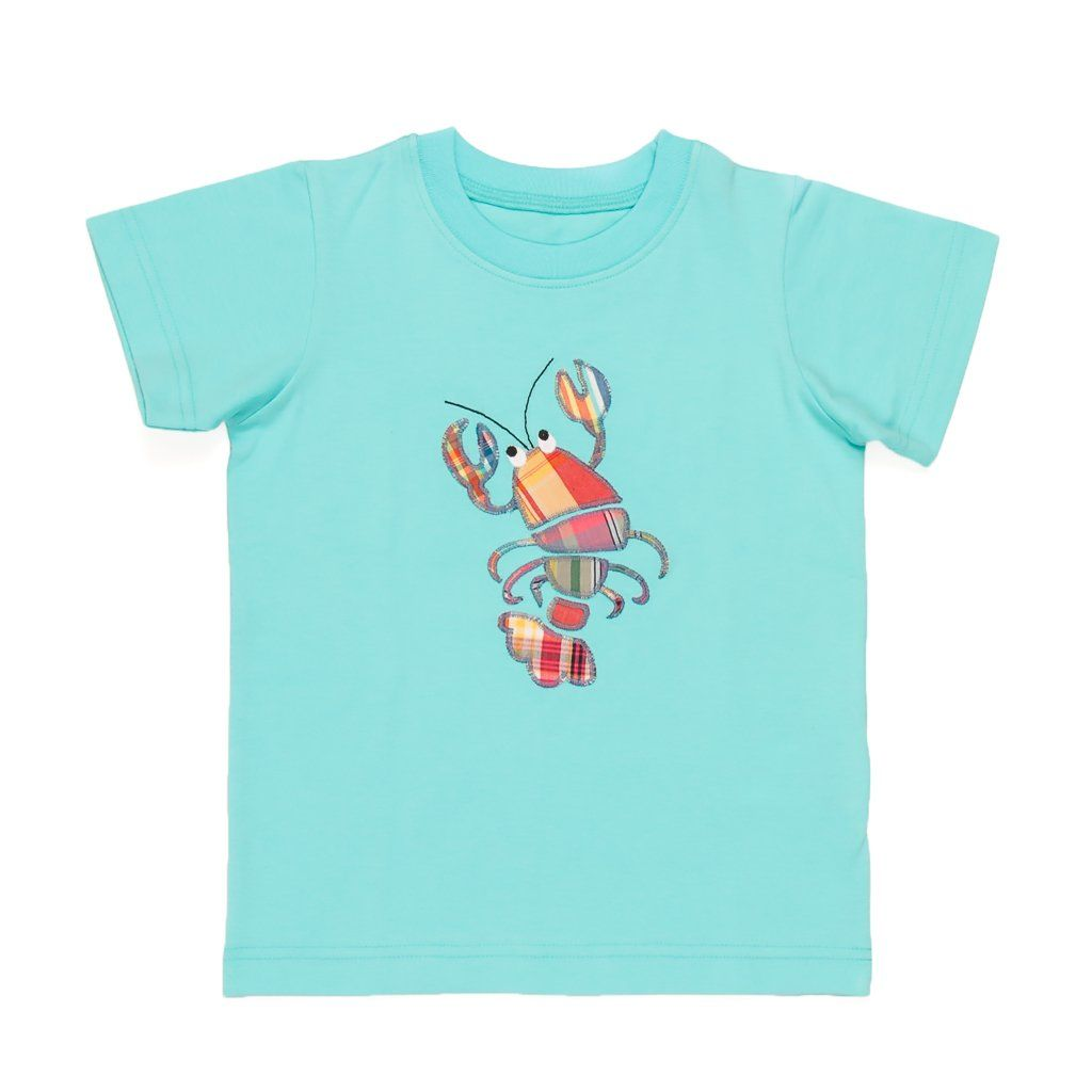 Summer Swim Lobster Applique Tyler Tee