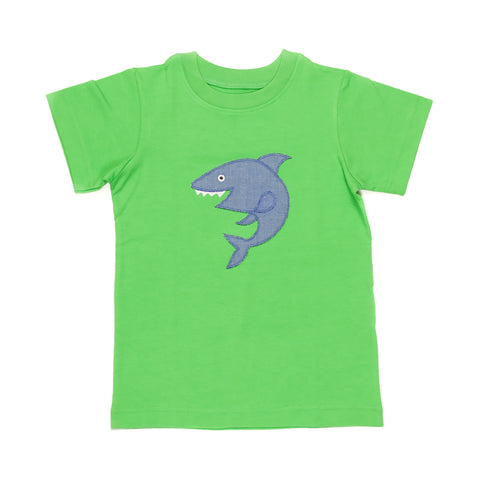 Summer Swim Shark Applique Tyler Tee
