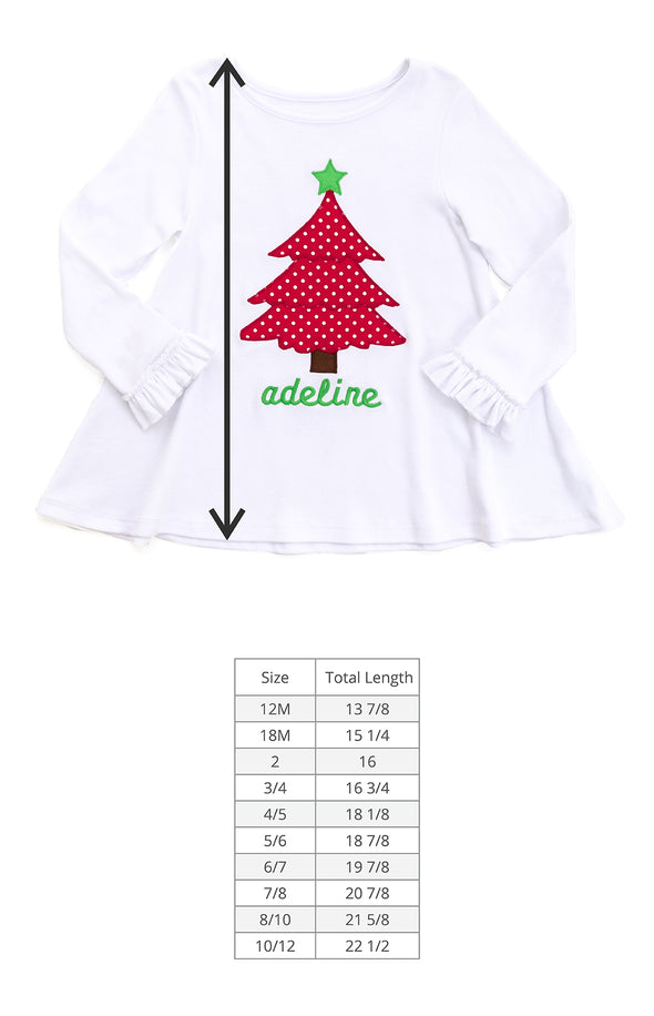 Christmas Tree Applique Emmy Top
