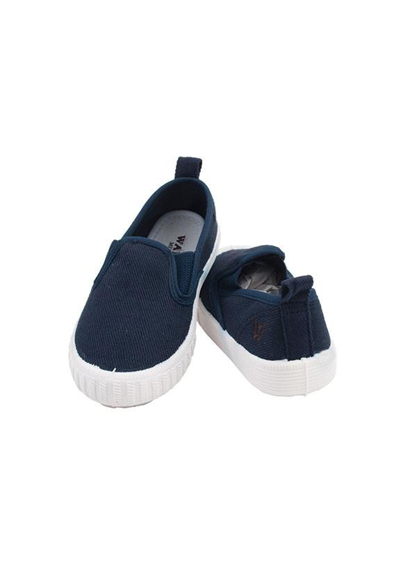 Navy Canvas Slip-Ons