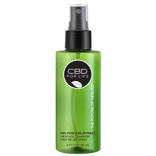 99% Pure CBD Extract Menthol Camphor Pain Relief Spray