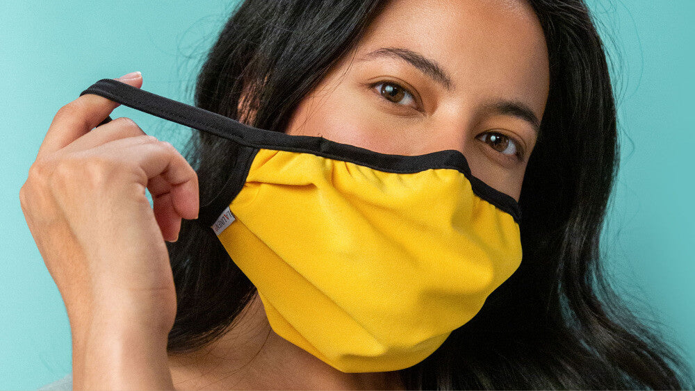 Tristyn And Full Size Ear Loop Mask In Yellow