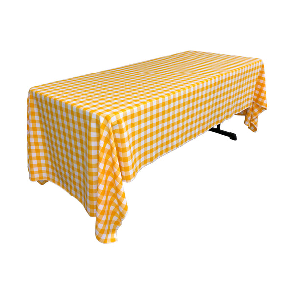 Checkered Rectangular Tablecloth 60 by 120-Inch