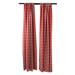 Checkered 8 Foot High by 58 Inch Wide Drape/Backdrop, Pack-2