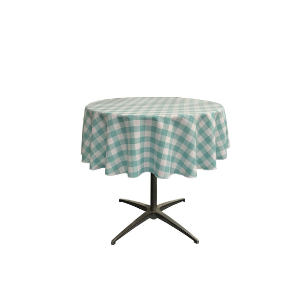 Checkered Round Tablecloth 51-Inch