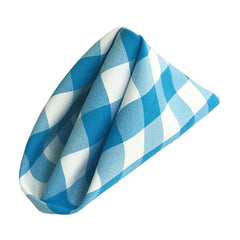 Checkered Polyester Napkins Pack of 10
