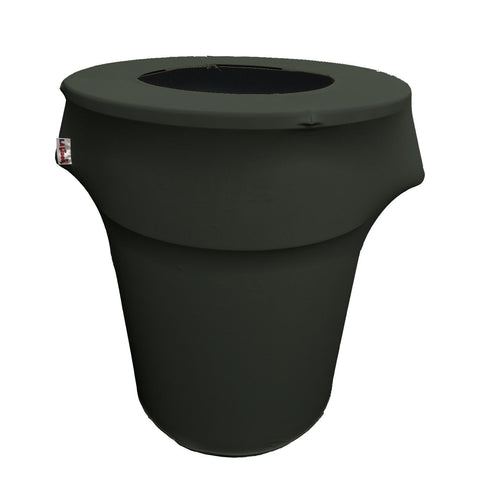 Spandex Trash Can Cover for 44-Gallon. Made in USA