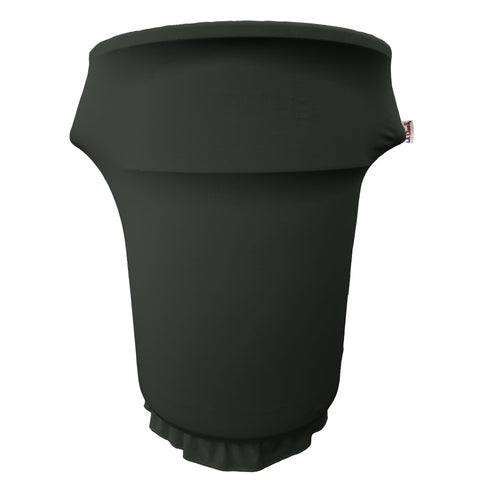 Spandex Cover fitted for 55 Gallon Trash can on wheels. Made in USA