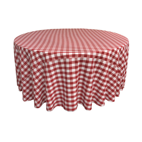 "Checkered Polyester 132""  Round"