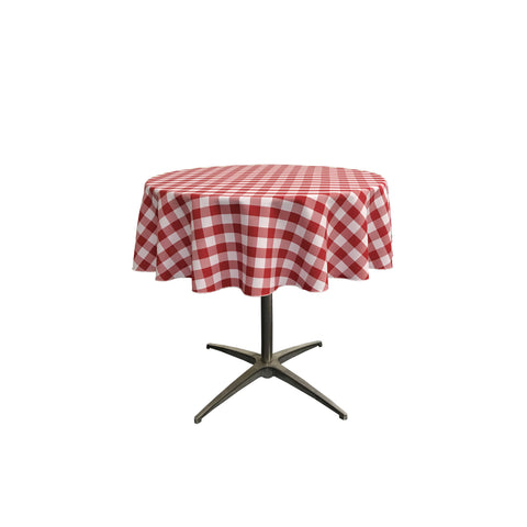 "Checkered Polyester 51"" Round"