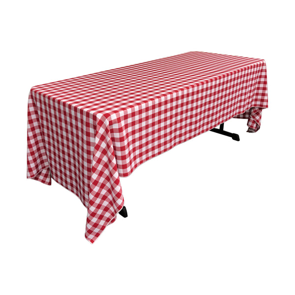 Checkered Rectangular Tablecloth 60 by 144-Inch  LA Linen