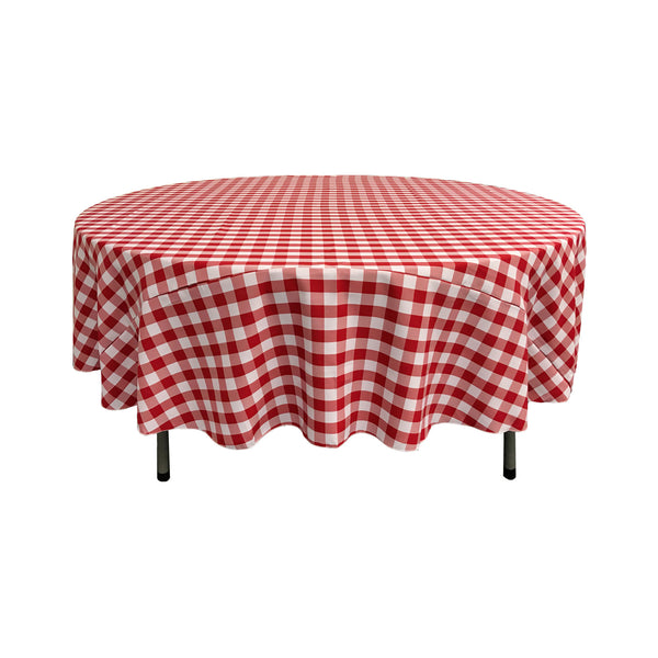 Checkered Round Tablecloth 72-Inch