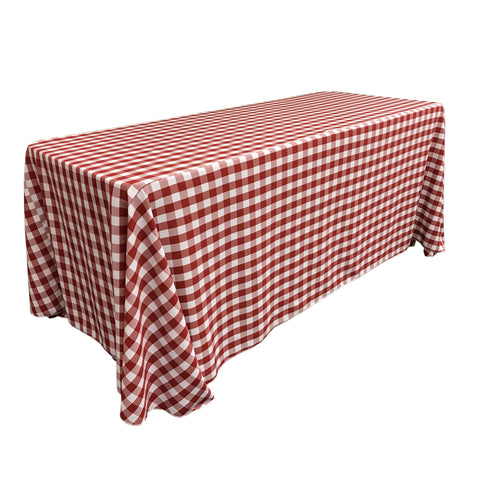 "Checkered Polyester 90"" X 156"""