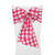 "Pack-10 Checkered Polyester 8"" x 108"" Chair Bows"