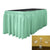 "Polyester Poplin 21' x 29"" Pleated Table Skirt with 15 Clips"