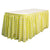 "Checkered Polyester 17' x 29"" Pleated Table Skirt with 10 clips"
