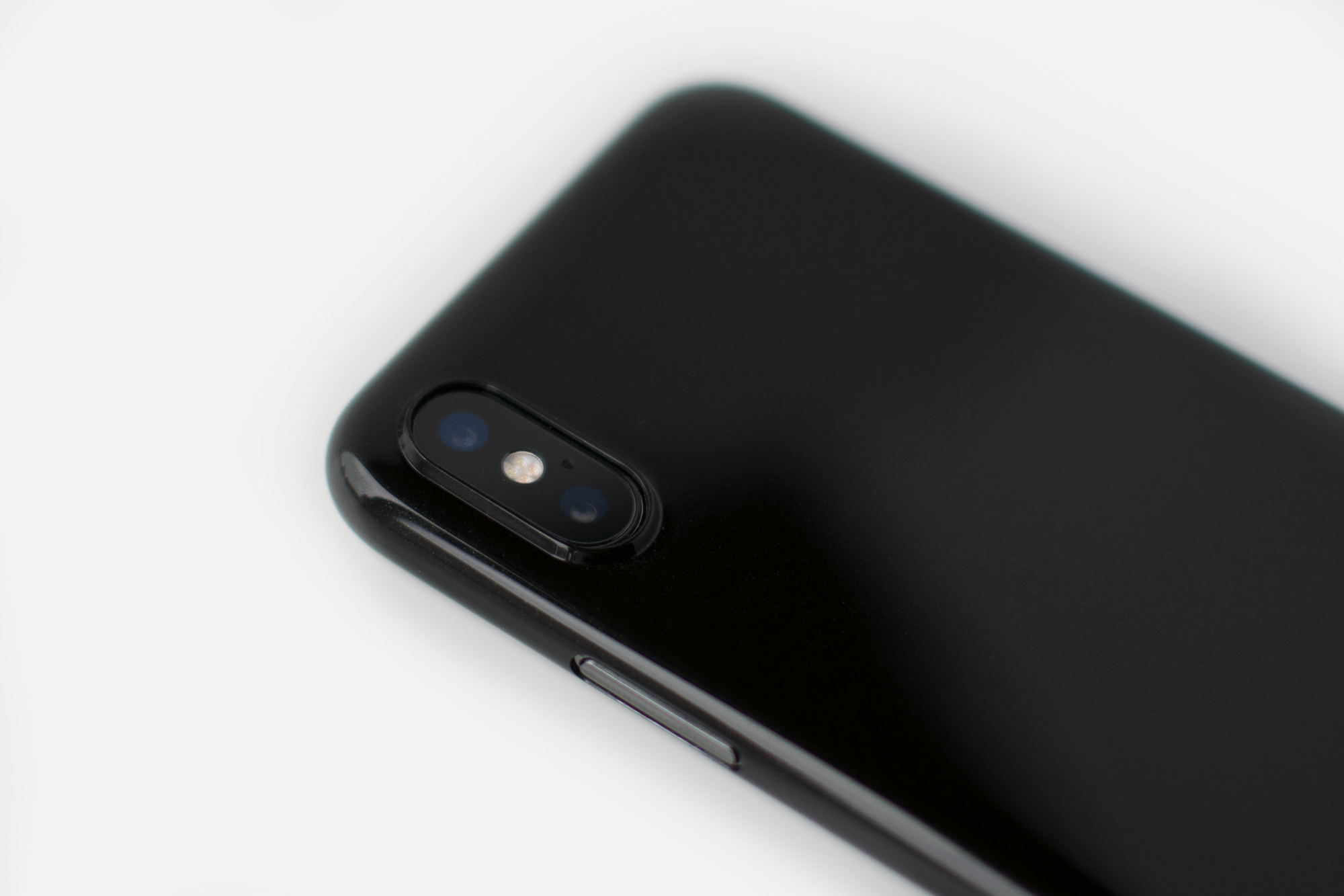 iPhone X - Glossy Black Phone Case
