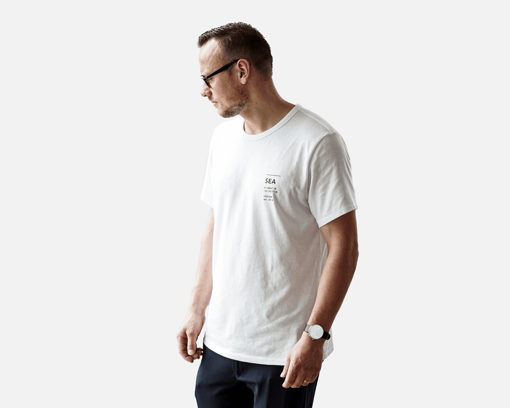 Location Tee / White - Unisex