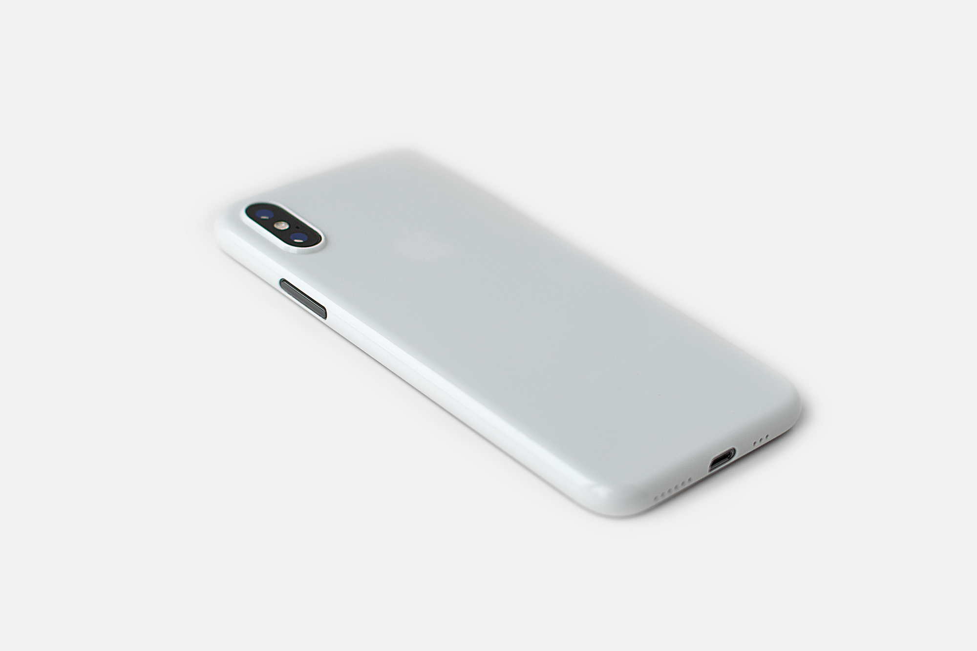 iPhone X - Glossy White Ultra Thin Phone Case