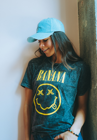 Amber Sosa wearing Vegetaryn Banana Nirvana t-shirt