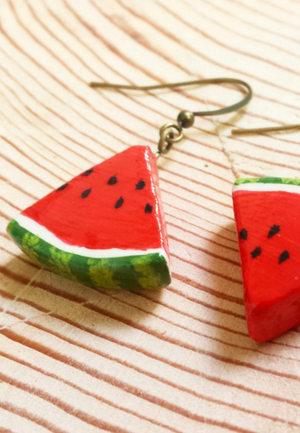 Load image into Gallery viewer, WATERMELON EARRINGS