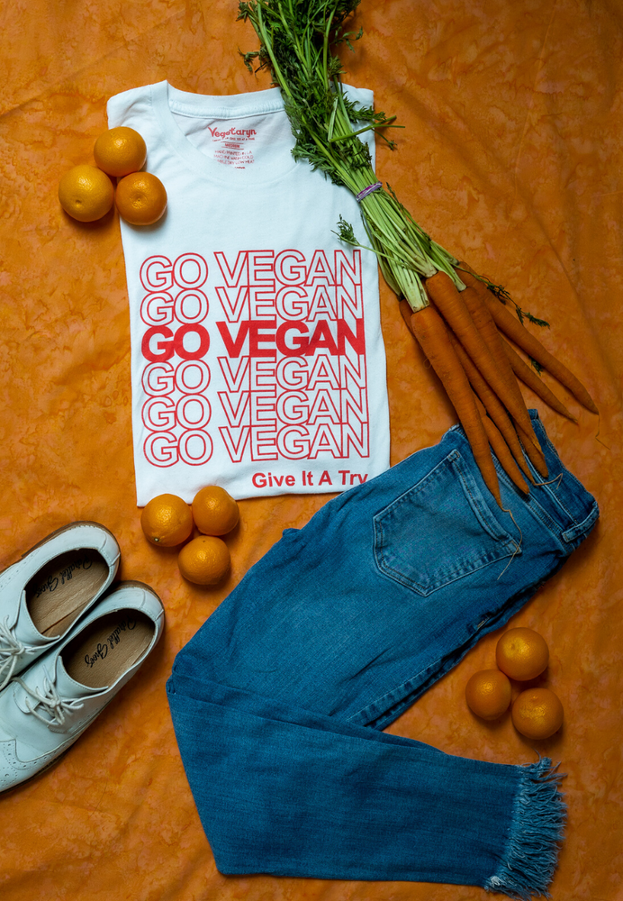 Load image into Gallery viewer, GO VEGAN GO VEGAN (Unisex Tee)