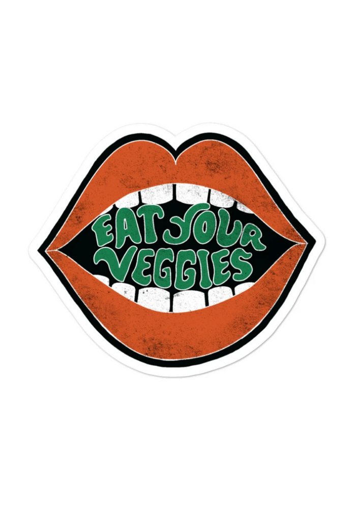 EAT YOUR VEGGIES STICKER