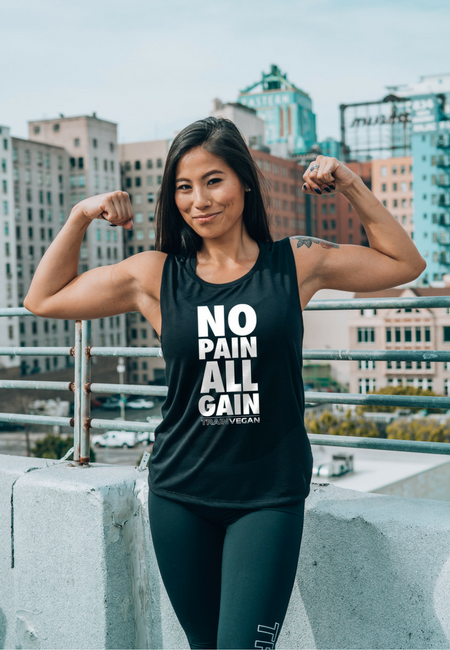 NO PAIN ALL GAIN - TRAIN VEGAN